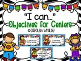 """""""I can"""" Objectives for ELA Centers"""