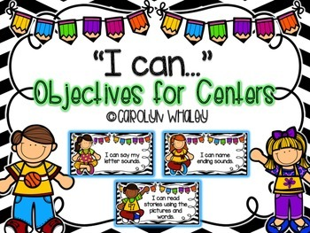"""I can"" Objectives for ELA Centers"