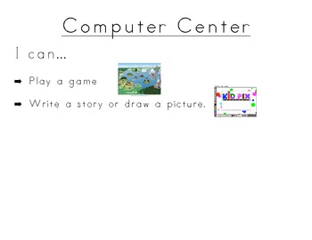 I can Posters  For Kindergarten Centers
