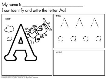 """""""I can.."""" PreK and Kindergarten Handwriting Packet -  HUGE 105 pages"""