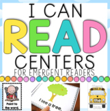 I can Read Emergent Center Activities - School Themed BUNDLE