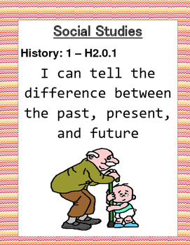 I can Social Studies Posters First Grade