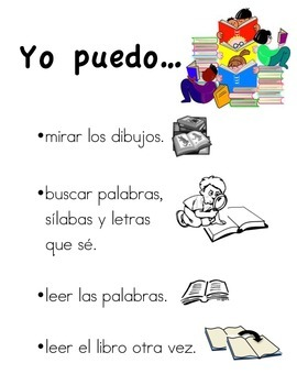 I can... Spanish and English independent reading poster