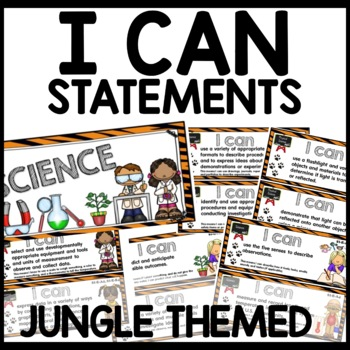 I can Statements 1st Grade Jungle Themed