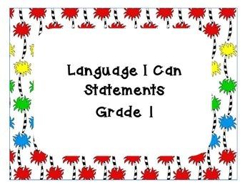 Language Arts I can Statements