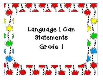 Language Arts I can Statements
