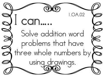 I can Statements for First grade- easy to read!