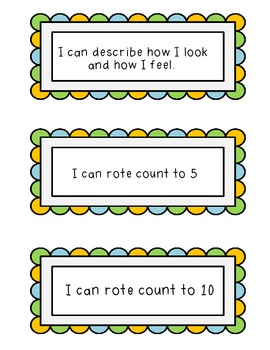 """""""I can"""" Statements for Preschool"""