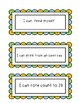 """I can"" Statements for Preschool"