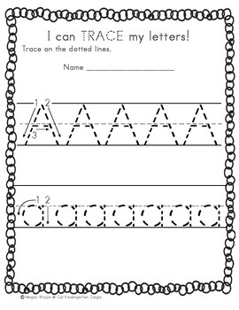 I can TRACE my letters! Pre-K & Kindergarten Alphabet Practice Packet