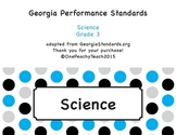 """""""I can"""" Third Grade Georgia Performance Standards for Science"""