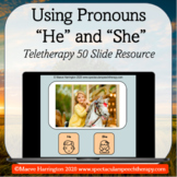 I can Use Pronouns 'He' and 'She'! Distance Learning Telet