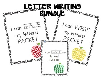 I can WRITE & TRACE my letters BUNDLE Kindergarten Alphabe