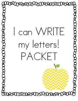 I can WRITE my letters! Kindergarten Alphabet Practice Packet
