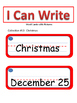 I can Write #10- Christmas