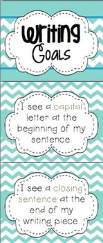 Writing Goals - I can Write Bulletin Board Set - Common Core