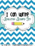 Writing Goals - I can Write Bulletin Board Set - Common Core