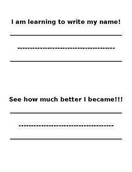 I can Write My name sheet