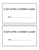 Number Booklet, Different ways to represent a number