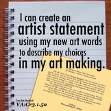 I can artist statement