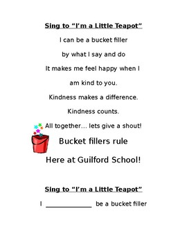 I can be a bucket filler!