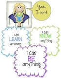 """I can be anything..."" Positive Affirmation Poster"