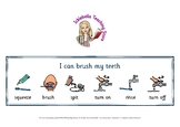 I can brush my teeth visual support