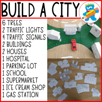 Templates to build a small city.  Great Craftivity for kids.