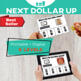 DOLLAR UP: I can...buy food  Money Task Cards Bundle 60 Special Education