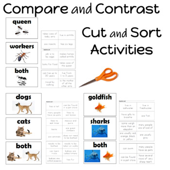 I can compare and contrast 2 animals