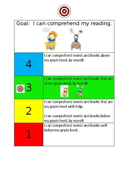 I can comprehend my reading scale