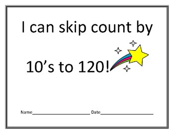 I can skip count by 10's to 120 certificate