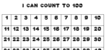 I can count to 100 and count by 10s