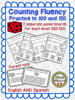 Counting Fluently to 100 and 120 ~ Spanish and English