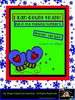 I can count to 120! - Winter/ Christmas - Common Core Aligned{Sweet Line Design}