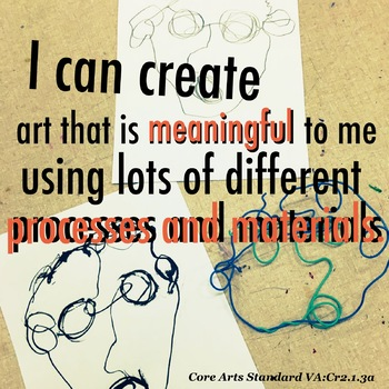 I can create art meaningful different process materials