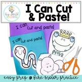 I can cut and paste- Scissor Practice