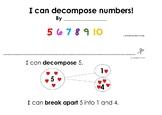 Free   I can decompose  numbers -Kindergarten math mini book (K.OA.A.3)