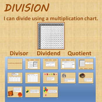 I can divide using a multiplication chart PowerPoint Presentation