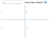 I can draw a Heart Template to accompany youtube video! Guided Drawing!