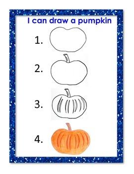 I can draw a pumpkin chart