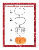 I can draw a pumpkin chart in SPANISH