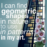 I can find geometric shapes in nature