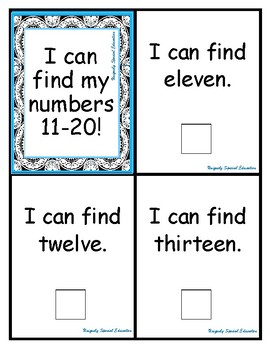 I can find my numbers 11-20