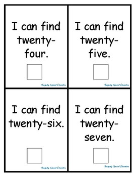 I can find my numbers 21-30