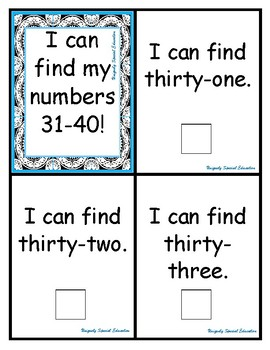 I can find my numbers 31-40