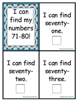 I can find my numbers 71-80