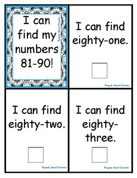 I can find my numbers 81-90