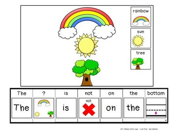 PREPOSITIONS: The Bottom... Adapted Book Special Education Autism Speech Therapy