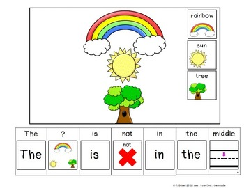 PREPOSITIONS the Middle... Adapted Book Special Education Autism Speech Therapy